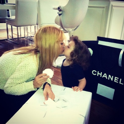 rachelzoe:  Two things I love very much…kisses from Skyler & Chanel