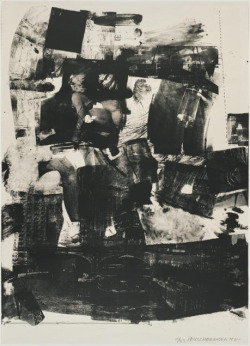 rgf-storythinking:  Robert Rauschenberg, Kip-Up, 1964. Lithograph, 41 × 29 in (104.1 × 73.7 cm), edition of 33.  Image via Artsy.