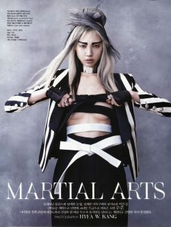 timeless-couture:  Martial Arts Soo Joo photographed by Hyea-Won Kang for Vogue Korea June 2013