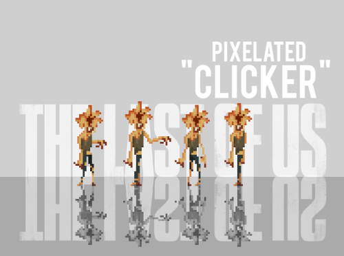 "fuckyeahthelastofus:   ""The Last of Us Pixelated Clicker"" by: Ben3555  again, so so cute."