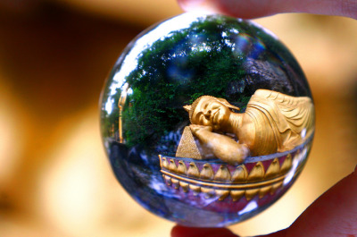 kelledia:  Seeing Buddha in my crystal ball.