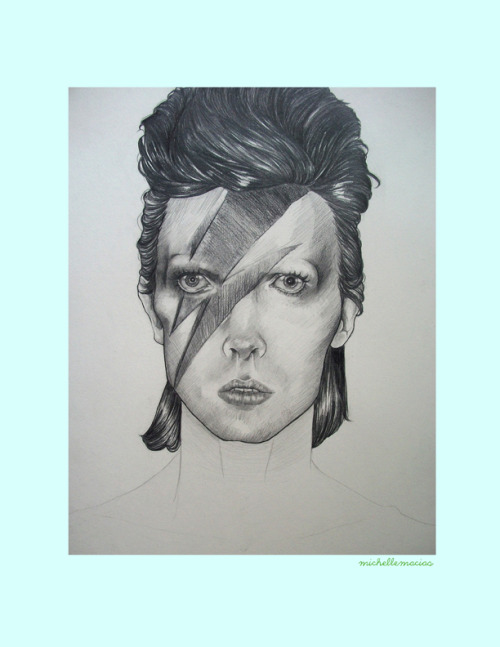 This is how my David Bowie portrait looks right now, I just have to finish his chest and part of his arms!! My baby Its almost ready!! :D