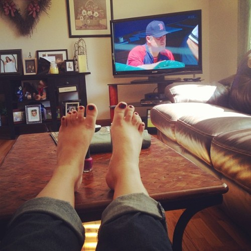 Great start to the summer. Relaxin' watching the Sox game.