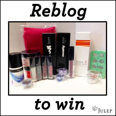 julepmaven:  Follow us and reblog this photo to win the beauty/nail set that you see in this photo! Winner will be contacted next week via tumblr DM :+)  I've been loving Julep so much since my intro box and ordering the mystery box… I can't believe it took a life-long nail polish lover like me so long to find out about Julep polishes!