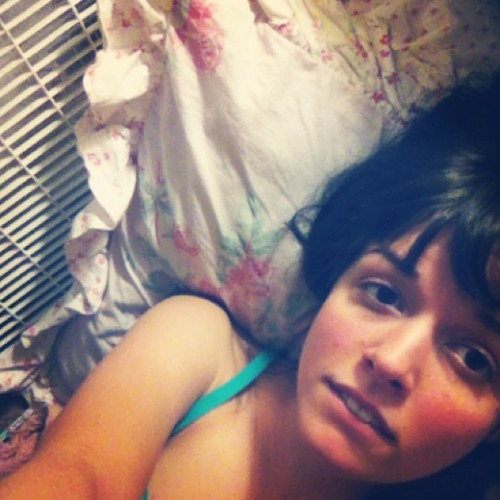 Sleeping on the floor tonight. Too hot to function. #brunette #browneyes