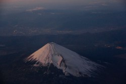 Mount Fuji from the air! submitted by: tonighticanwrite, thanks!