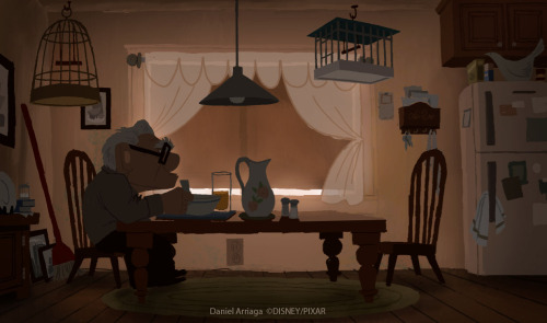 An emotional concept piece by Disney Pixar sketch artist,Daniel Arriaga, that pulls at the heart strings. Up concept art pt2 by *danielarriaga
