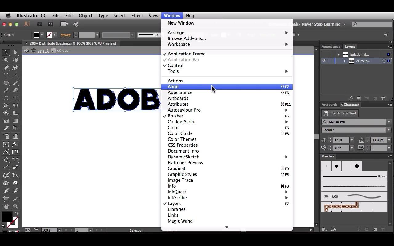 Align Adobe Illustrator