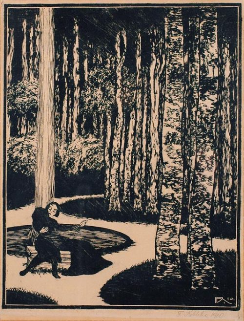 poboh:  František Kobliha. Czech (1877 - 1962)   - Woodcut on paper, 1910 -