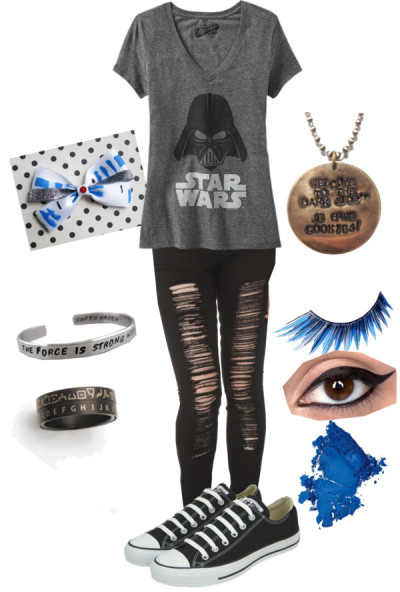 midnighthouseelves:tsy   Star Wars by kittyeatsthesky featuring black tops