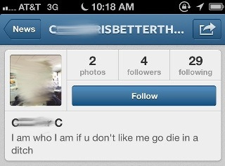 Got a fun new follower on Instagram.