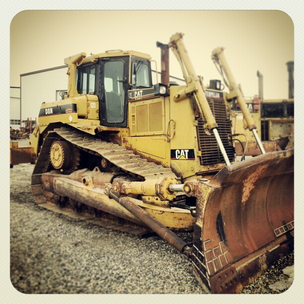 This Caterpillar D8N bulldozer is sitting in the Headwater yard and is ready to go to work for you