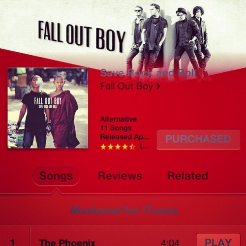 Fall Out Boy's New Album Is Amazing! 😀❤ #FallOutBoy #SaveRockAndRoll #LoveIt