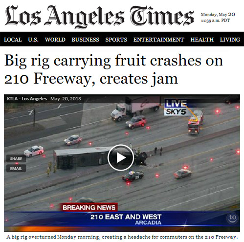 tastefullyoffensive:  Headline of the year.[latimes]  The 210
