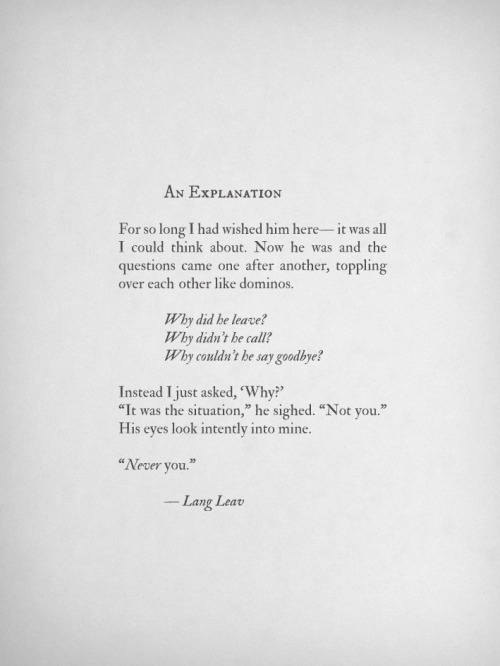 langleav:  An Explanation by Lang Leav
