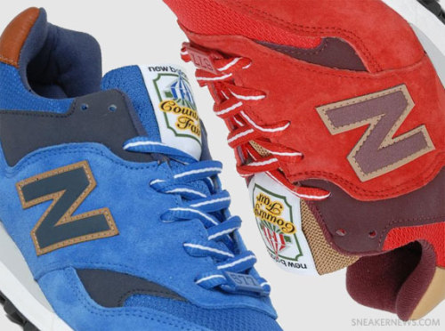 New Balance 577 - Country Fair  suede uppers in blue/red coming with tan leather heels and some darker accents.  clean look with a premium twist.  click here for more pics