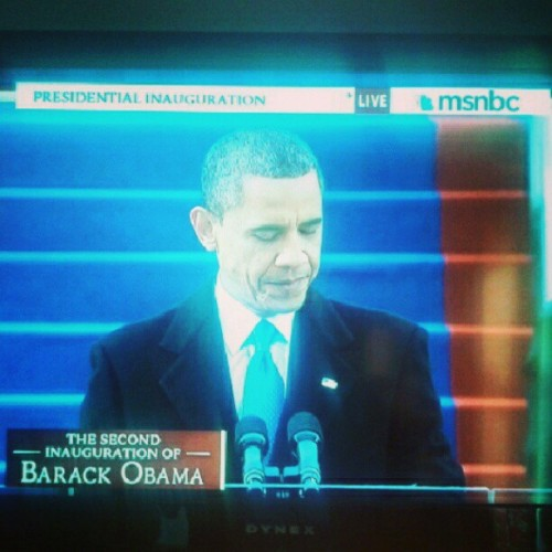 President Barack Obama giving his #Inauguration2013 speech. #inaug2013 #inauguration #obama #potus #fourmoreyears #barackobama