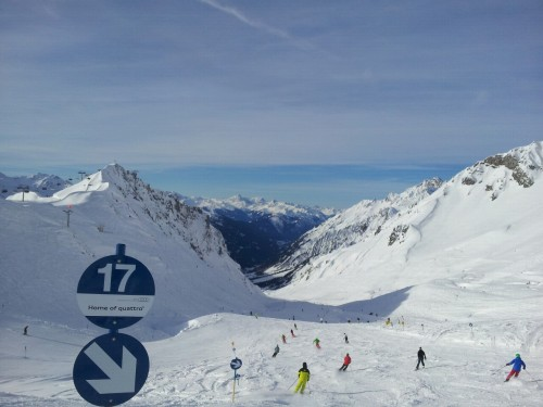 Skiing above St Anton