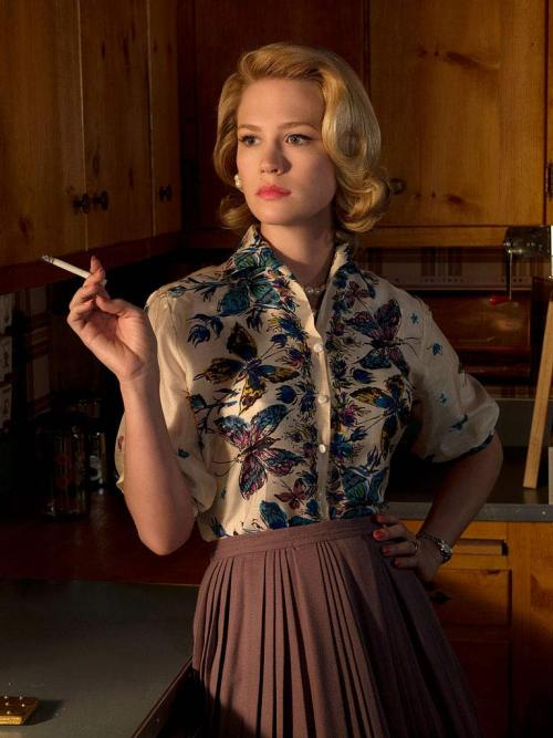 nedhepburn: here is a simple math equation: the more i watch of Mad Men the more i like Betty Draper. A lot of modern men seem to appreciate a different time. I often hear myself put at the heart of it. I can't help but wonder if they, like my neighbors, see a facade that they wish to inherit the more superficial aspects of.