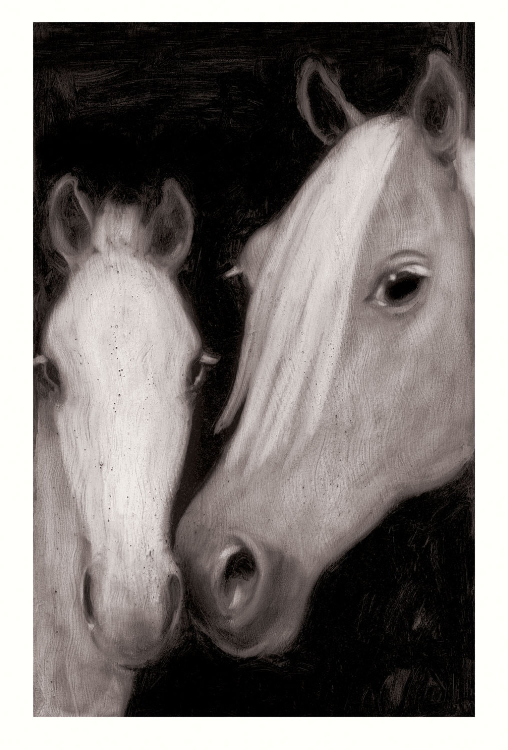 Artwork of the day: Mare & Foal, 2004 by Joe Andoe