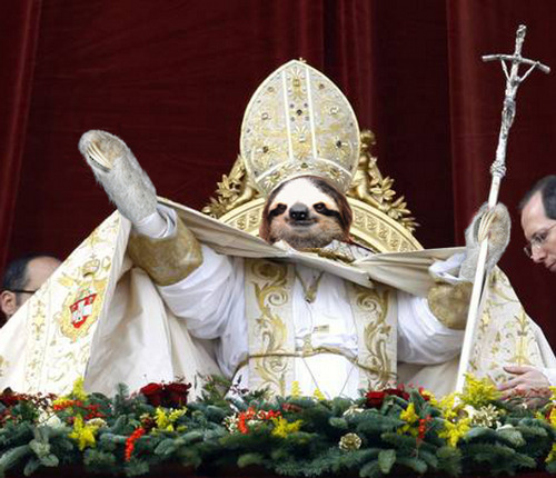 VOTE POPE SLOTH!!1!!1!