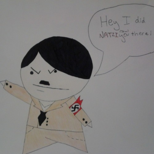 Chibi hitler! He is both cute and evil! ^.^