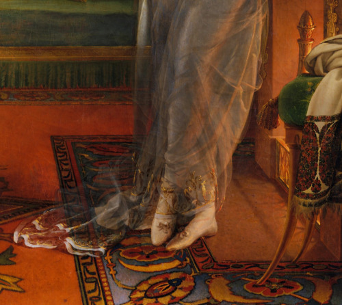 jaded-mandarin:  Detail from Portrait of Madame Charles Maurice de Talleyrand Périgord (Noël Catherine Verlée, 1761–1835), later Princesse de Bénévent.