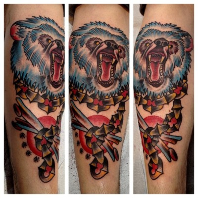 tattoosbymitch:  Bearly fit it all in one photo #gastowntattoo (at Gastown Tattoo Parlour)