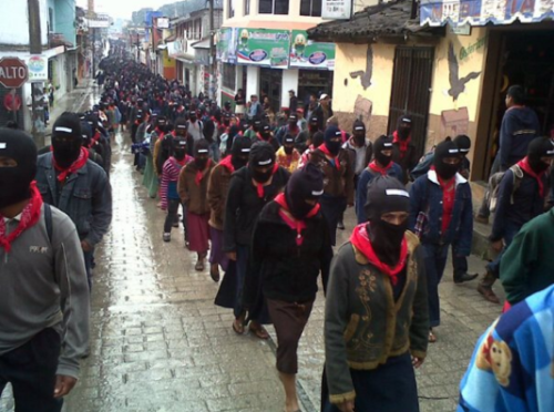 lastrealindians:  EZLN ( Zapatista National Liberation Army) marched by the hundreds from the highlands of chiapas into cities to draw attention to Indigenous issues which have been ignored or quelled by the Mexican government