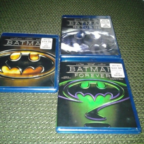 Best buy get a sale only on three batman's movies for $9.99 (at Denton,Tx)