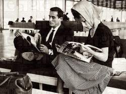 vittorio gassman and annette stroyberg in rome during their highly publicized affair