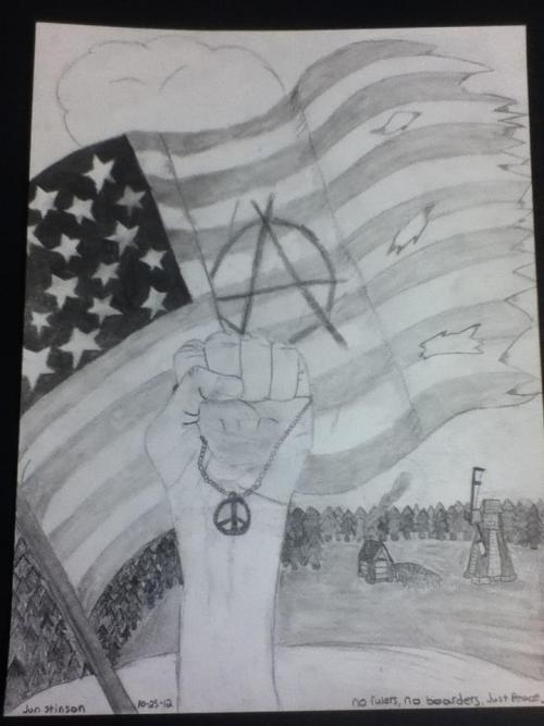 "Anarchist Peace by Jon ""Stins"" @ punk-among-hicks.tumblr.com"