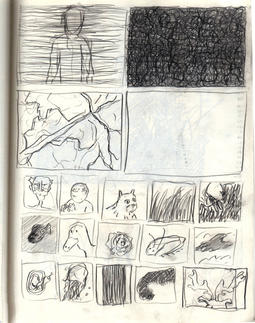 "thumbnails for forthcoming song comic, ""LIFE (In a Watering Can)"""