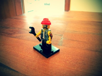 I got a new Lego Minifig, it looks like a mechanic or something. Also looks a bit like my grandpa :P -The Sky Sketcher