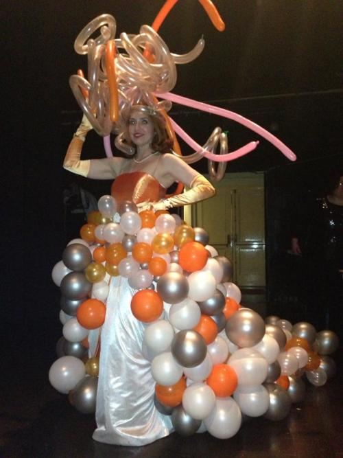 Jill Bourque in a NYE balloon gown by Ann Feehan