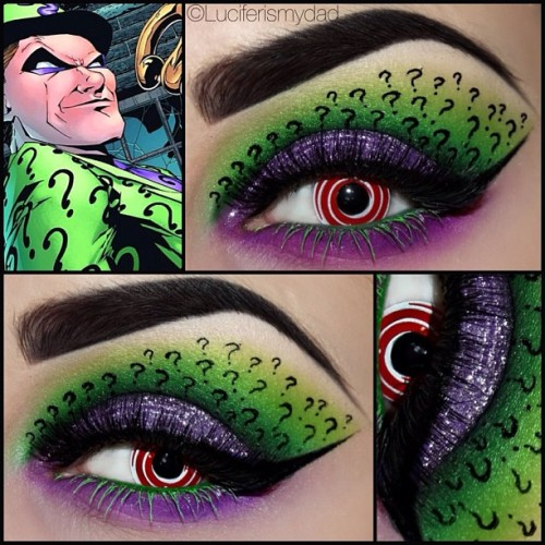 vanillacoke:  itwasjustanotherwolf:  OH MY GOD  That's fucking dope.  Makeup and batman….im done