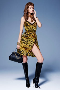 Mila Krasnoiarova for Versace Pre-Fall 2013.