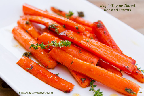 findvegan:  Maple-Thyme Roasted Carrots