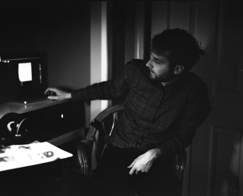 Oliver Brooks of Leisure Suit in the studio.—Tri-X 400 pushed 3 Stops. Pentax 67II. 105mm f/2.4—