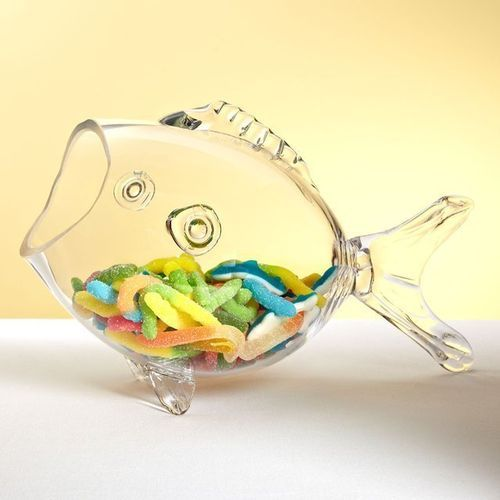 Under the Sea Glass Candy Bowl $40