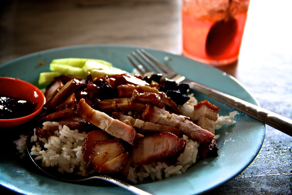 shelovesasianfood:  BBQ pork + Roast pork rice (by Mr Bao 包先生)