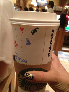 disneylandguru:  Get Soy or Rice Milk in your coffee or drinks at the Starbucks!   If anyone goes to disneyland in the near future, I want one of these cups, pretty please with a cherry on top.