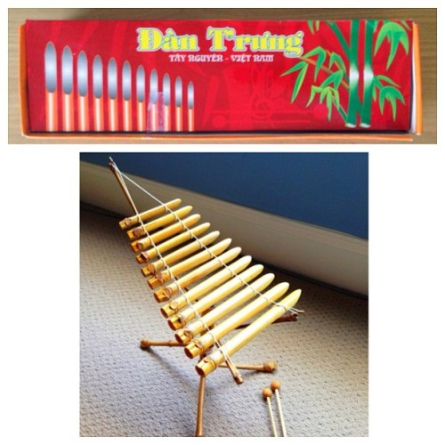 Hollow twig #xylophone from #Vietnam (probably not what they call it) - awesome #souvenir #musicalinstrument