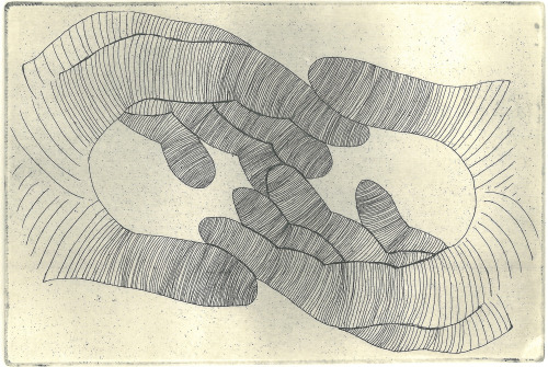 visualgraphic:  hands - etching, 2013