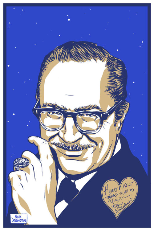 Forrest Ackerman screenprint made for Famous Monsters