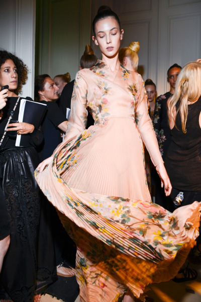 fashionfever:  Ruby Aldridge backstage at Valentino F/W 2012 Couture