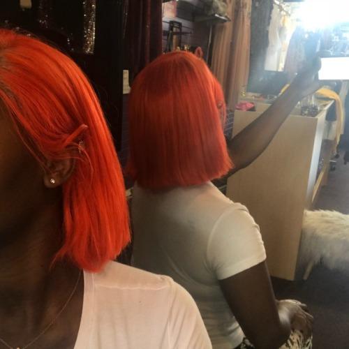 orangehair blackgirlmagic color frontalsewin babygirl fashion hairstyle