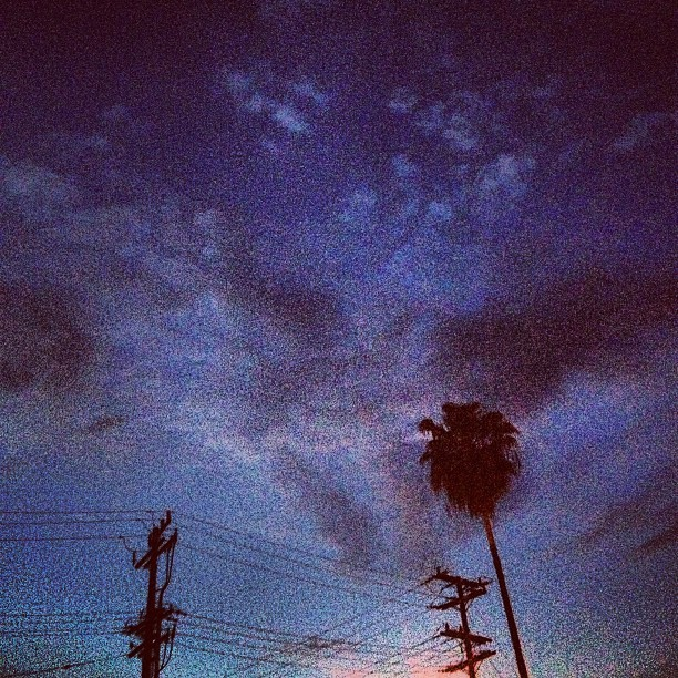 Another sky shot in Altadena - #altadena #sky #wires #clouds #nightsky #night #darkness