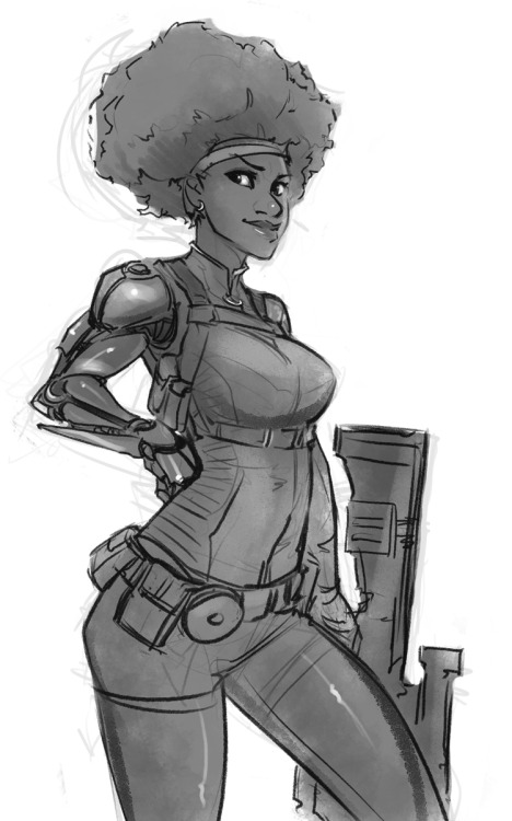 psuedofolio:  Misty Knight Sketch
