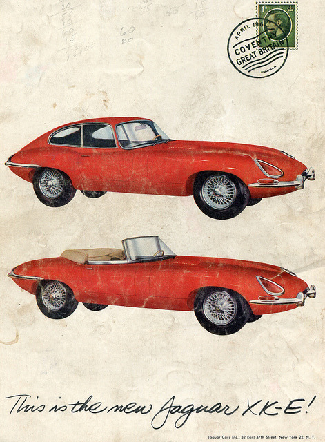 1961 Jaguar XK-E Advertisement Car and Driver August 1961 by SenseiAlan on Flickr.1961 Jaguar XK-E Advertisement Car and Driver August